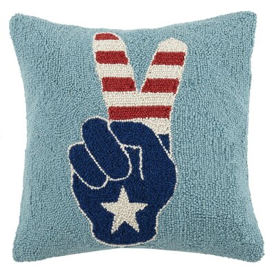 USA Peace Hook Wool Throw Pillow