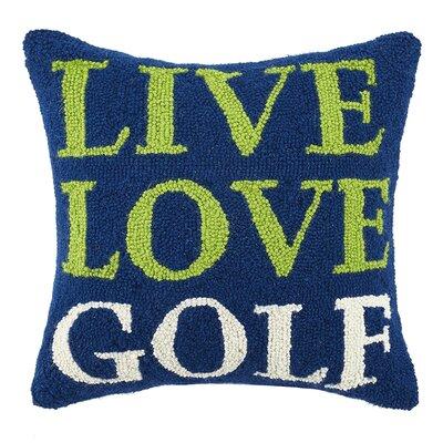 Live, Love, Golf Hook Wool Throw Pillow