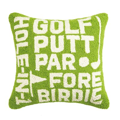 Golf Hook Wool Throw Pillow