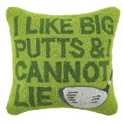 Big Putts Hook Wool Throw Pillow