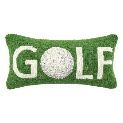 Golf Hook Wool Lumbar Pillow