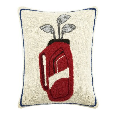 Golf Bag Hook Wool Lumbar Pillow