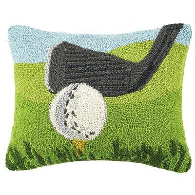 Golf Ball and Club Hook Wool Lumbar Pillow