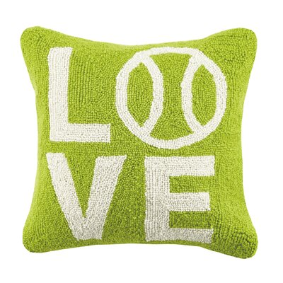 I Love Tennis Hook Wool Throw Pillow