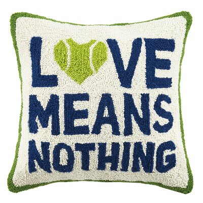 Tennis Love Means Nothing Hook Wool Throw Pillow