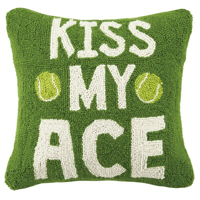 I Love Tennis Kiss My Ace Hook Wool Throw Pillow