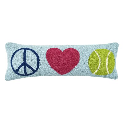 Peace Love Tennis Hook Wool Lumbar Pillow