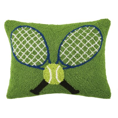 Tennis Racquets Hook Wool Lumbar Pillow