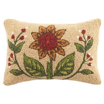 Summer Sunflower Hook Wool Lumbar Pillow