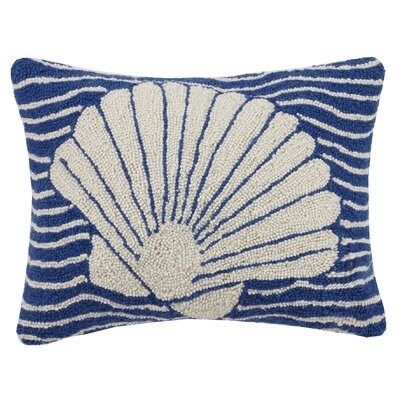 Multi Wave Nautical Seashell Hook Wool Lumbar Pillow