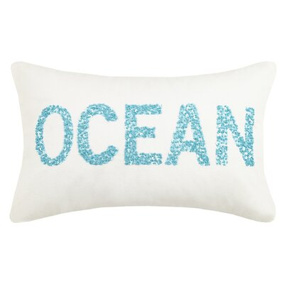 Oceanic Beaded Cotton Lumbar Pillow
