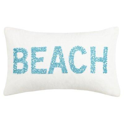 Oceanic Beaded Beach Cotton Lumbar Pillow