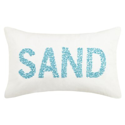 Oceanic Beaded Sand Cotton Lumbar Pillow