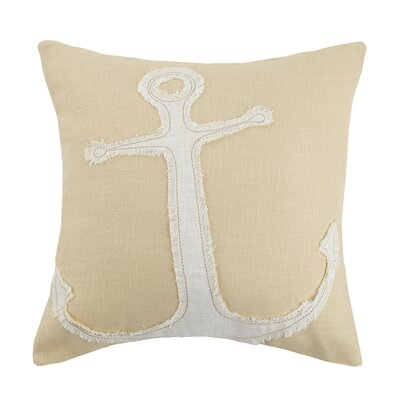 Anchor Linen Throw Pillow