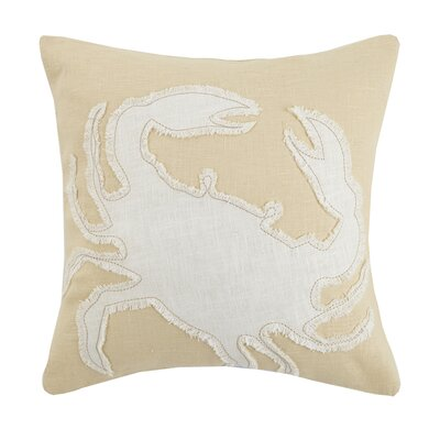 Crab Linen Throw Pillow