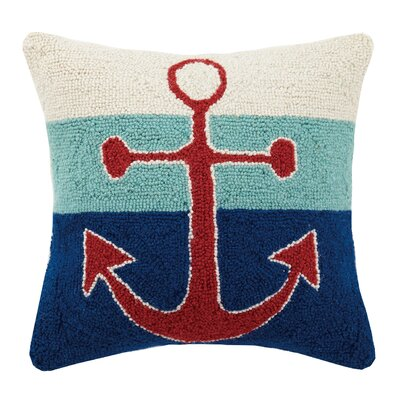 Anchor Hook Wool Throw Pillow
