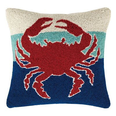 Crab Hook Wool Throw Pillow