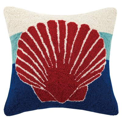 Shell Hook Wool Throw Pillow