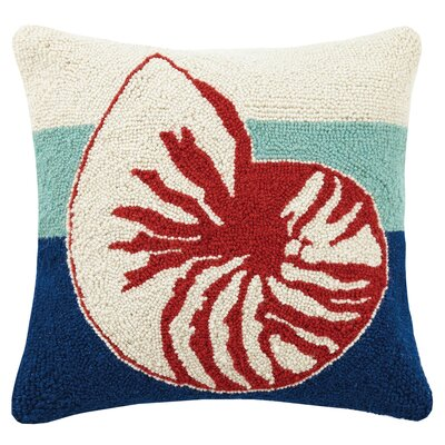 Nautilus Hook Wool Throw Pillow