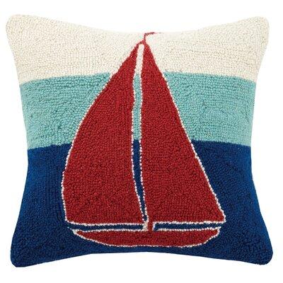 Sailboat Hook Wool Throw Pillow