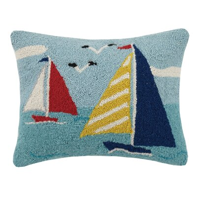 Sailboats Hook Wool Lumbar Pillow