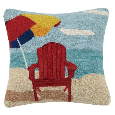 Beach Umbrella Hook Wool Throw Pillow