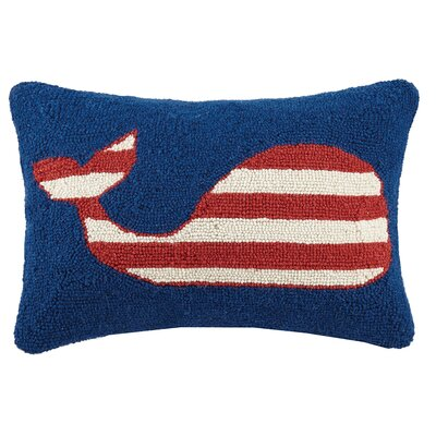 Whale Hook Wool Lumbar Pillow