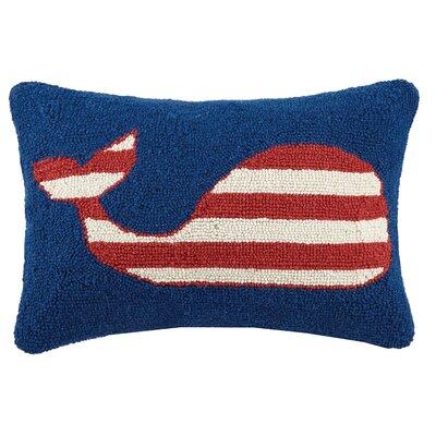 Whale Hook Wool Lumbar Pillow