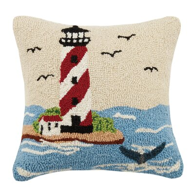 Light House Hook Wool Throw Pillow