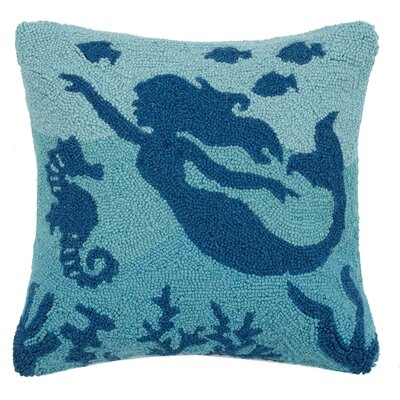 Sea Life Mermaid Hook Wool Throw Pillow