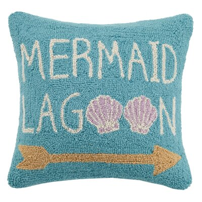 Mermaid Lagoon Hook Wool Throw Pillow