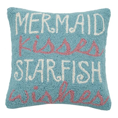 Mermaid Starfish Hook Wool Throw Pillow