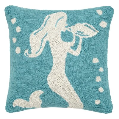 Conch Shell Mermaid Hook Wool Throw Pillow