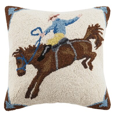 Rodeo Wool Throw Pillow