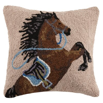Charging Horse Wool Throw Pillow