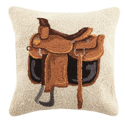Equestrian Bag Wool Throw Pillow