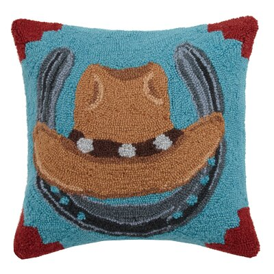 Cowboy Hat Wool Throw Pillow