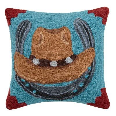 Cowboy Hat Wool Throw Pillow