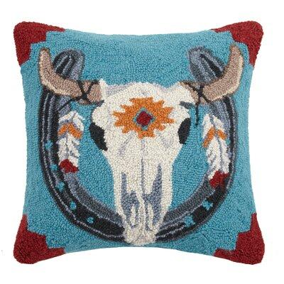 Cow Skull Wool Throw Pillow