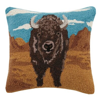 Desert Buffalo Wool Throw Pillow