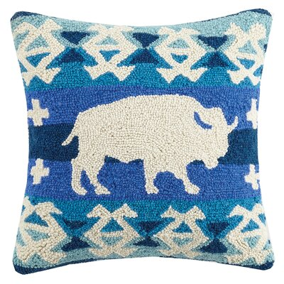 Bison Kilim Wool Throw Pillow