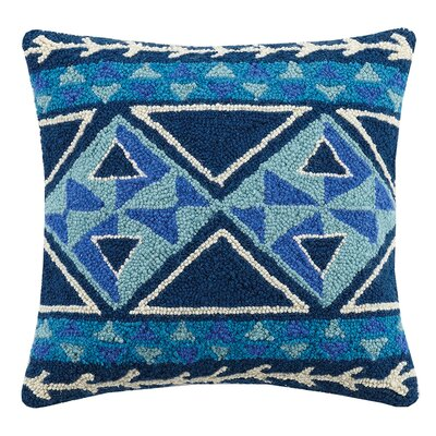 Diamond Kilim Wool Throw Pillow