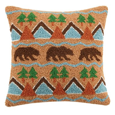 Bear Kilim Wool Throw Pillow