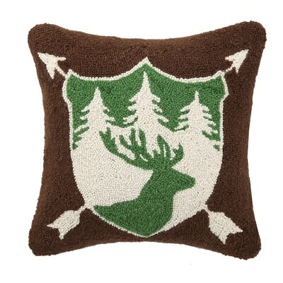 Deer Wool Throw Pillow