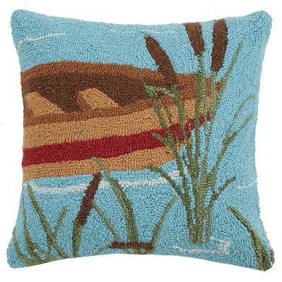 Canoe Lake Wool Throw Pillow