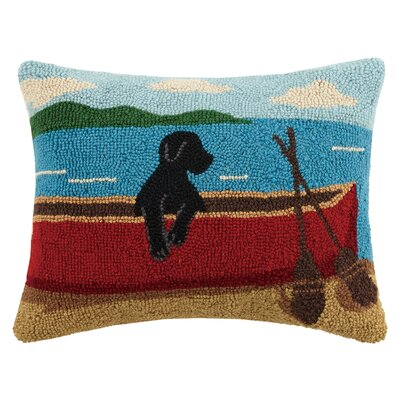 Lab on Canoe Wool Lumbar Pillow