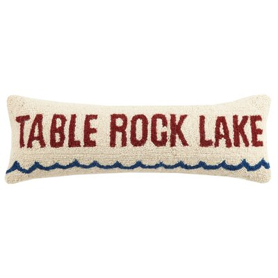 Table Rock Lake Wool Lumbar Pillow