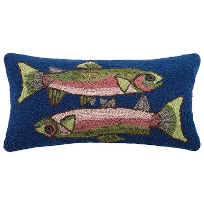 Two Fish Wool Lumbar Pillow
