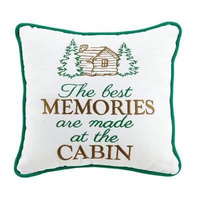 Cabin Memories Wool Throw Pillow