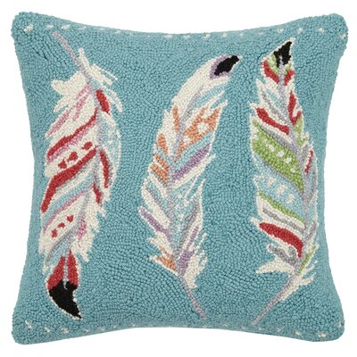 Feather Trio Wool Throw Pillow